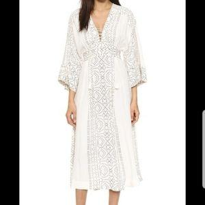 FREE PEOPLE  Modern Kimono Maxi Dress In Pearl Com